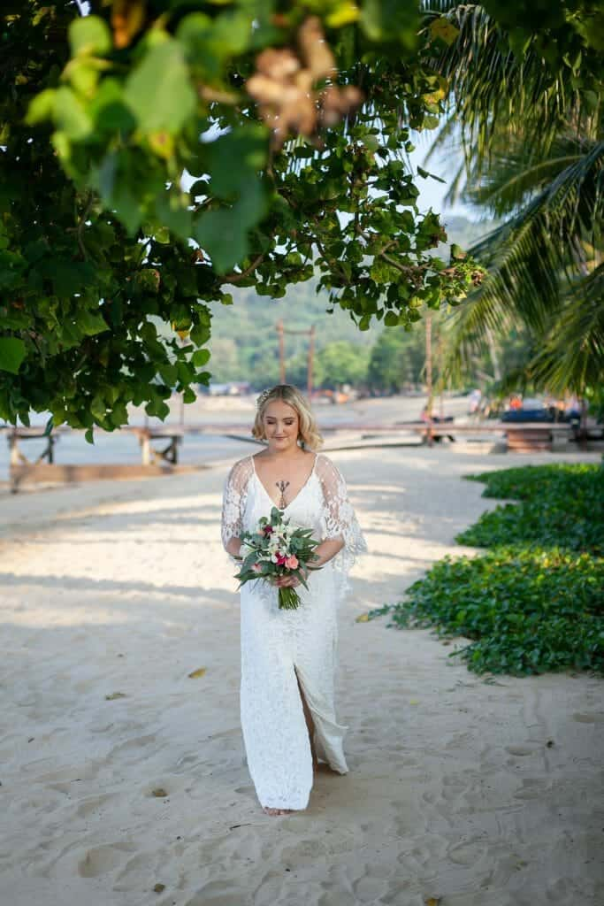 Beach Wedding Photographs - Coconut Island Resort Phuket 36