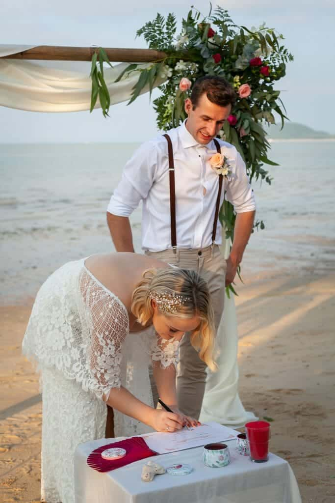 Beach Wedding Photographs - Coconut Island Resort Phuket 56