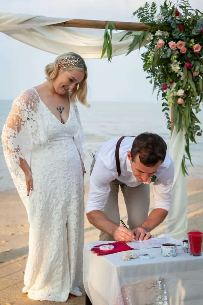 Beach Wedding Photographs - Coconut Island Resort Phuket 57